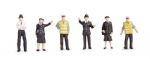 Bachmann Scenecraft 36-041 OO Scale Police & security staff (6)